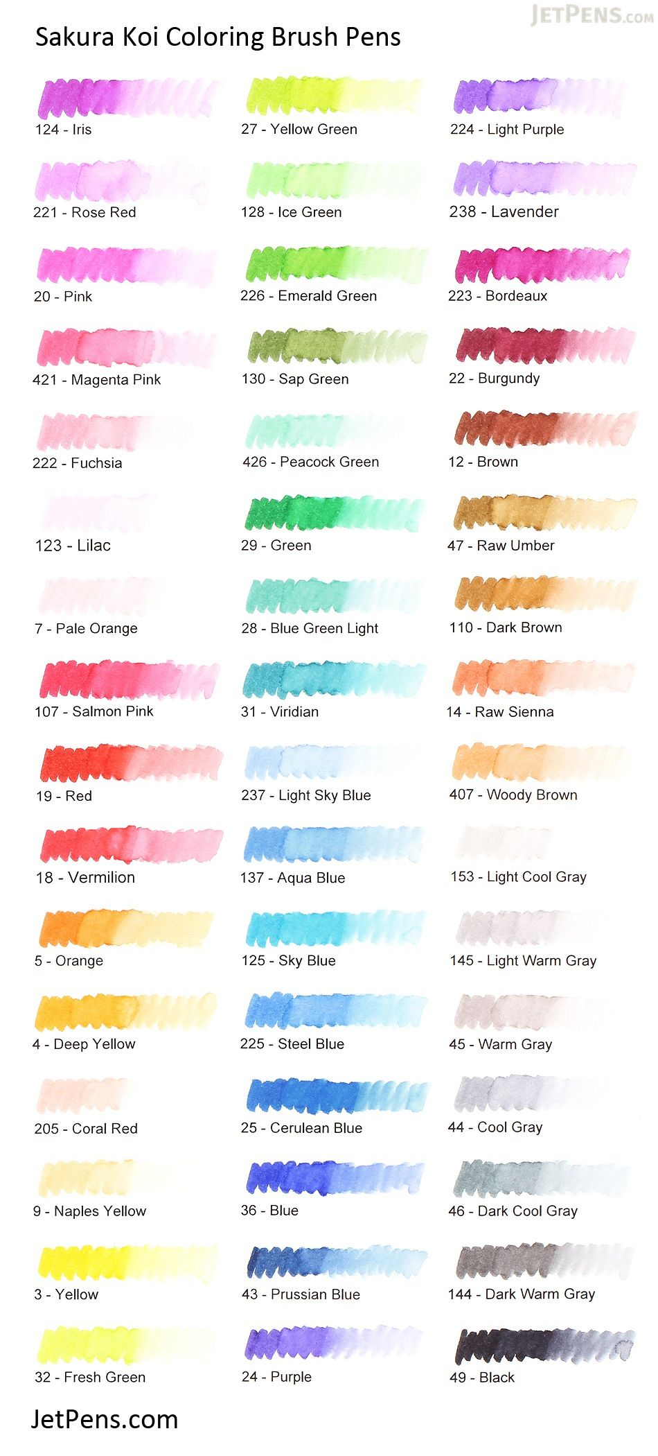 Sakura Koi Coloring Brush Pen - 12 Color Set - SAKURA XBR-12SA ...