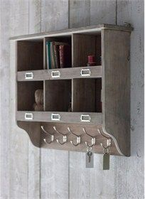 Chedworth Wall Unit With Hooks Providing 6 Spacious Cubby Holes And 5 Equally Wall Shelving Units Wall Storage Shelves Wall Mounted Shelving Unit