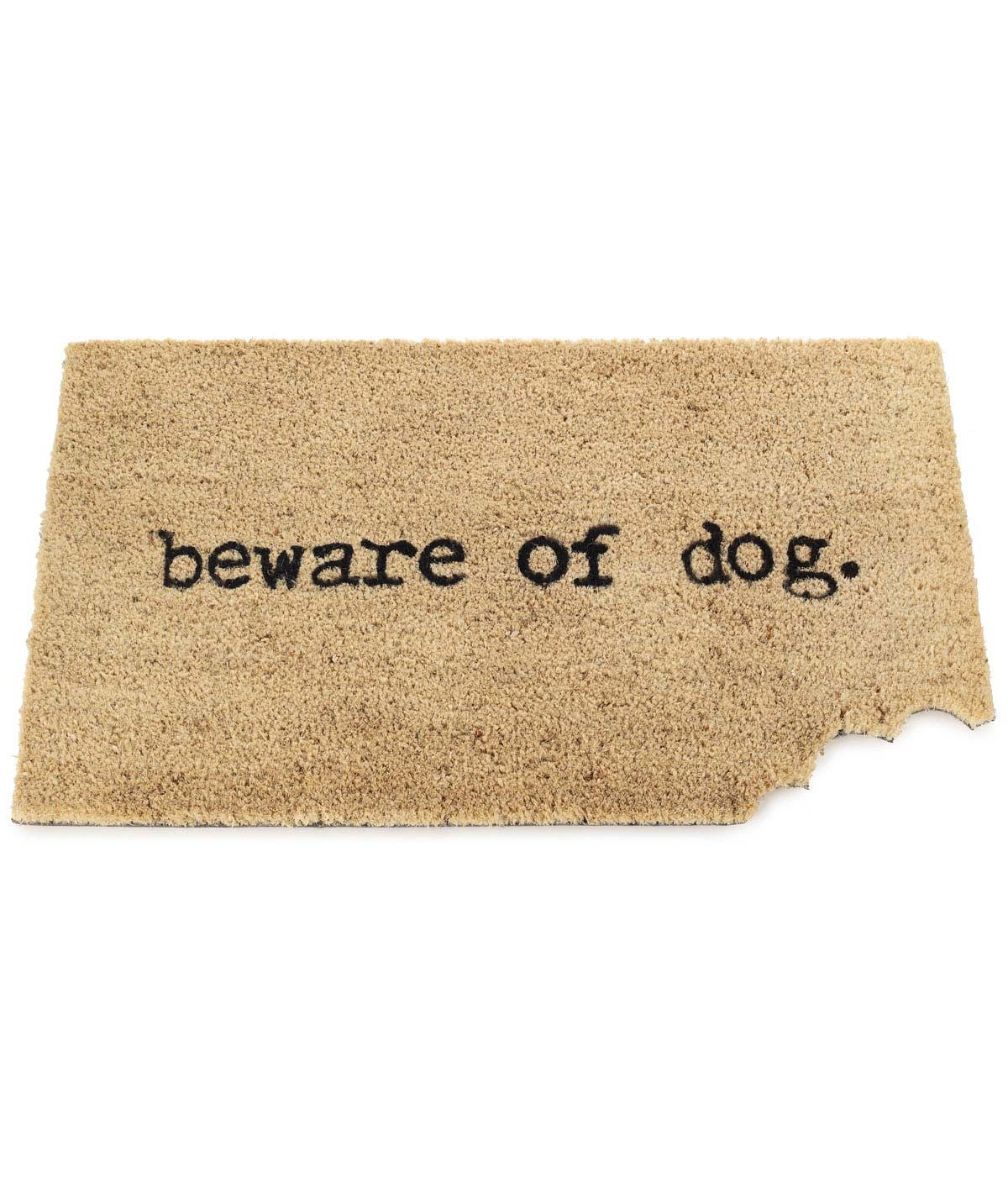 Beware Of Dog Mat | Coir, Doormat and Dog