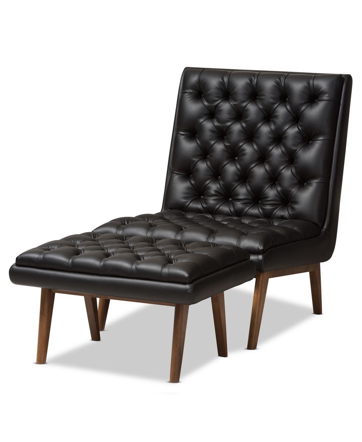 Furniture Rennate Chair Amp Ottoman Set Amp Reviews Chairs