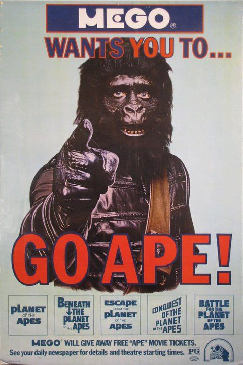 Mego Wants You To Go Ape Planet Of The Apes Movie Posters Go Ape