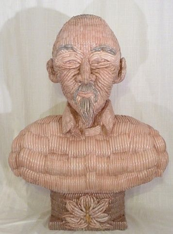 pamela council - bust made out of false fingernails | great art, Cephalic Vein