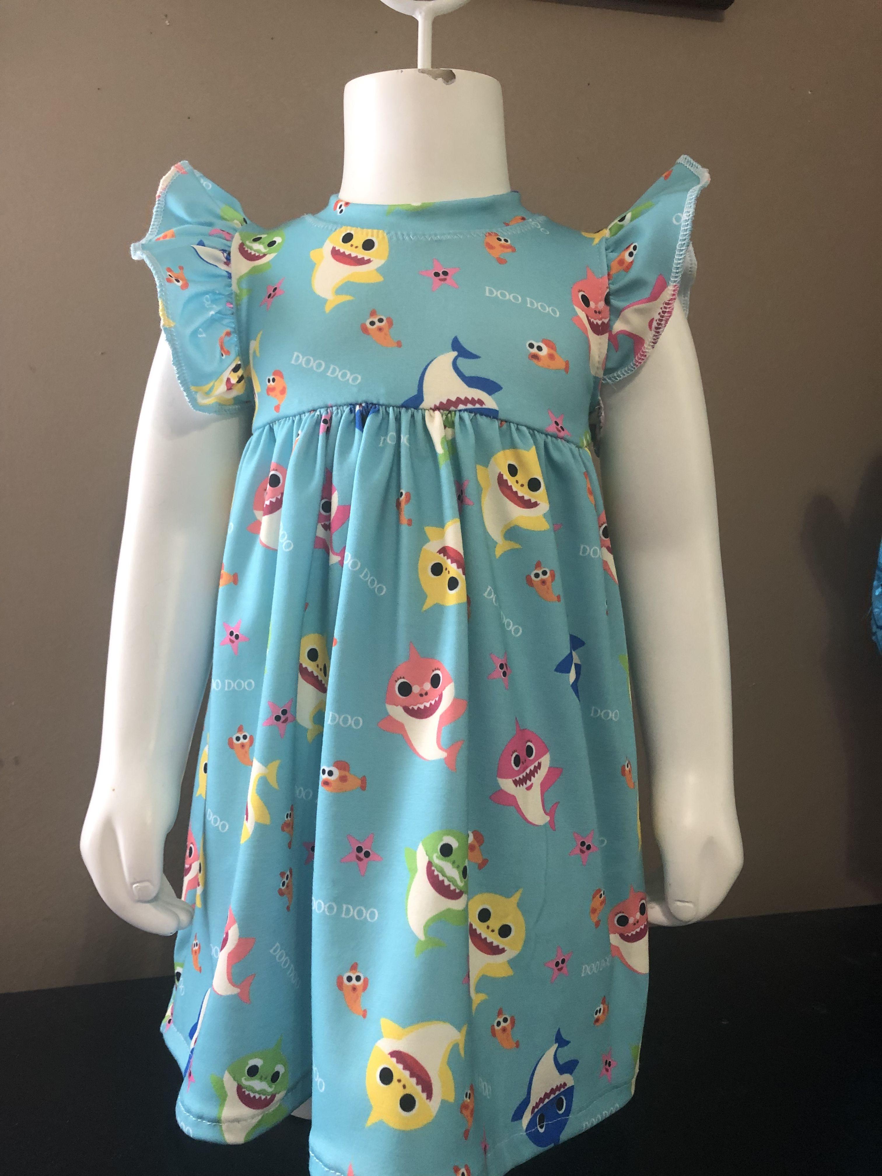 Baby shark dress Shark dress, Dresses, Baby dress