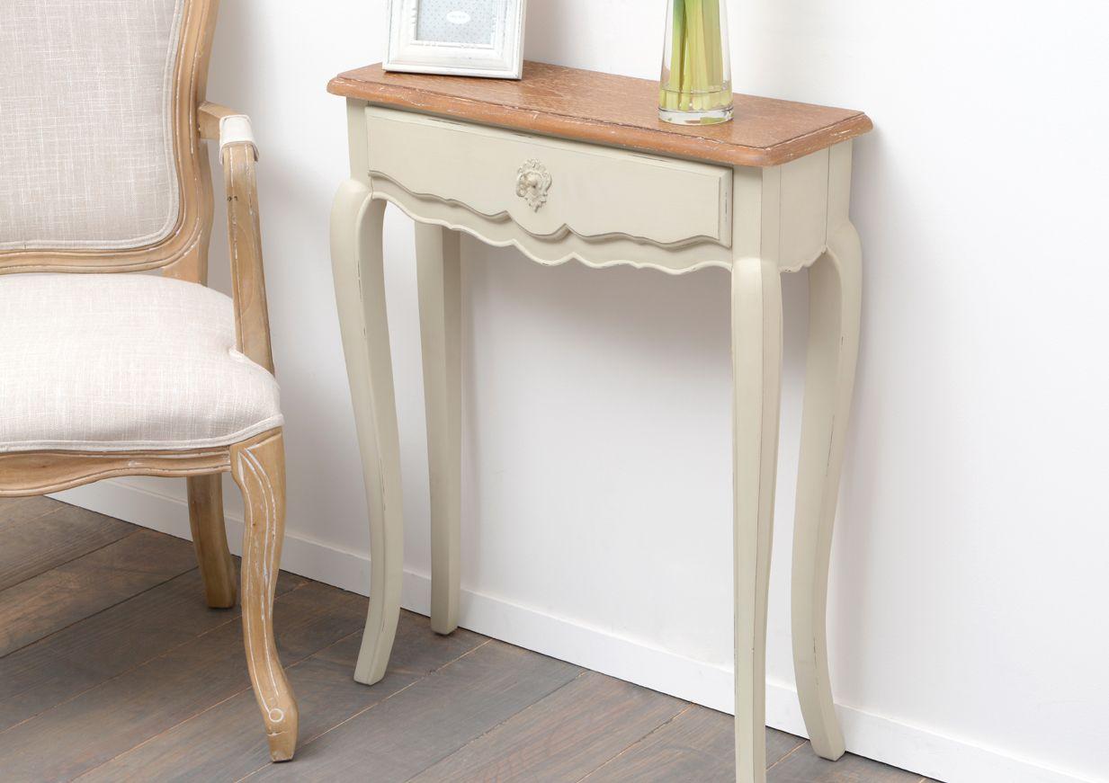console rustique 1 tiroir beauvoir sur d coration. Black Bedroom Furniture Sets. Home Design Ideas