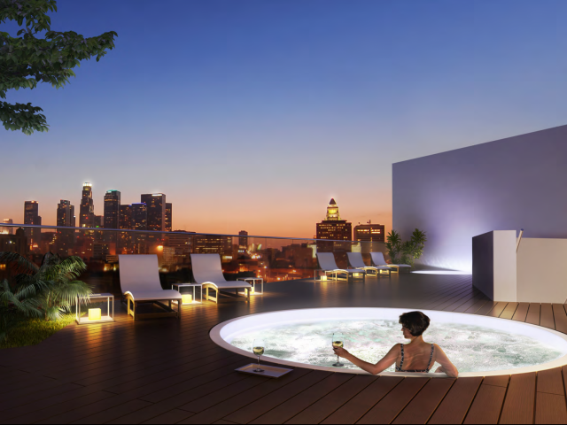 Enjoy The View From One Santa Fe Urban Living At Its Best Urban Living Santa Fe City Of Angels