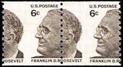 US 1305 Stamps MNH Misperfed EFO 6 Cents Franklin D Roosevelt Mint For Sale