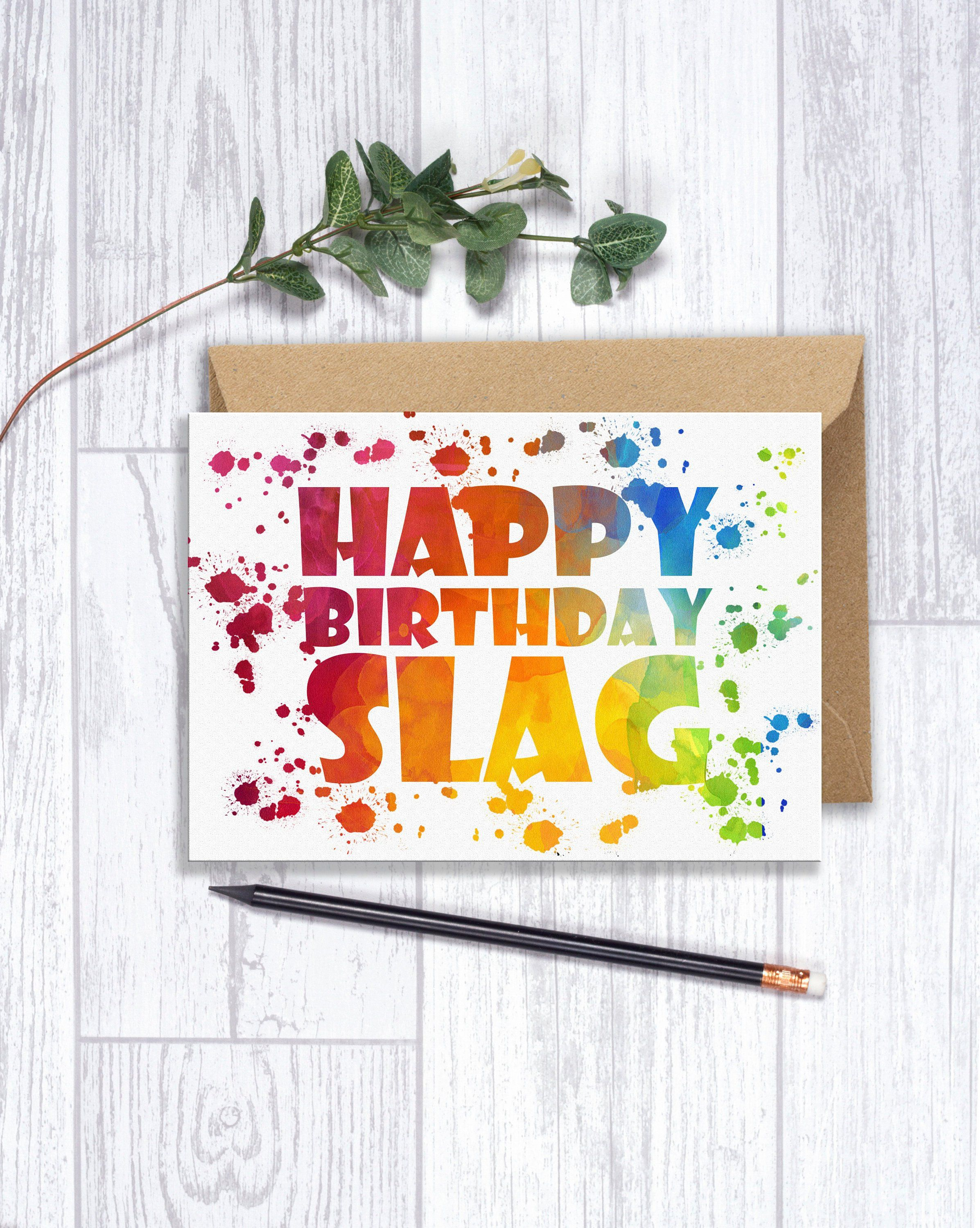 Funny Rude Birthday Card For Her