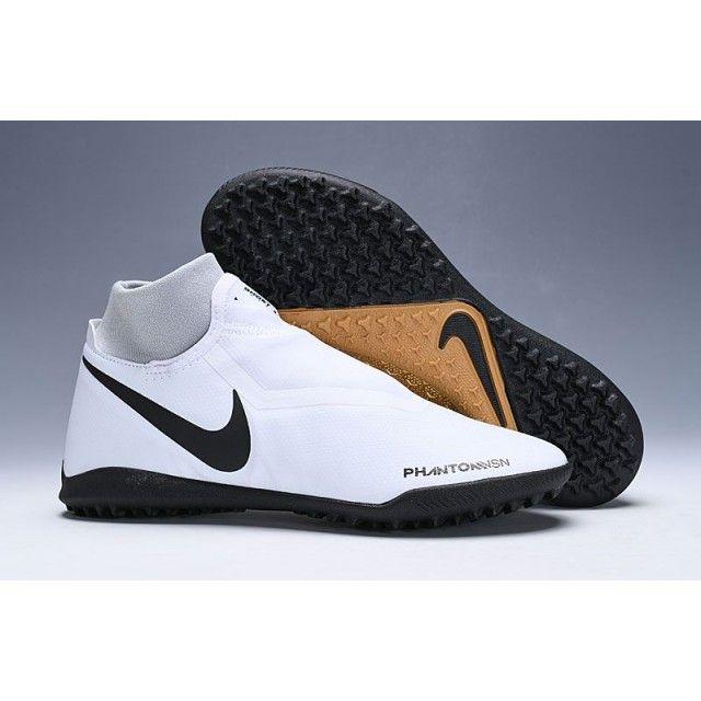 big sale 09de4 8ccb4 Nike Football Boots No Studs - Nike Phantom Vision Academy DF TF White  Black Gold - Concord Soccer Shoes - Turf - Mens  Size:38,39,40,41,42,43,44,45,46 ...