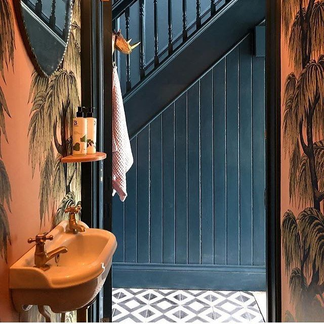 Be Bold Amazing Use Of Colour And Pattern In This Design By Suszi Saunders Featuring Our Black Vigo Tiles In The Hallway Want To Add Some Fun To Your Project With Images