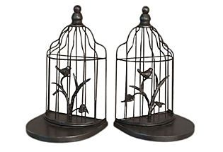 Birdcage bookends - so charming!