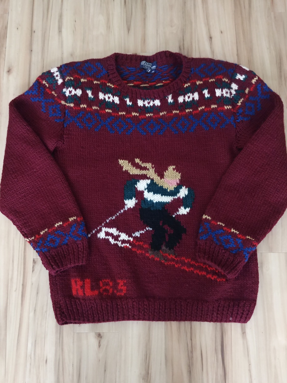 Vintage Polo Ralph Lauren 83 Hand Knit Wool Ski Sweater