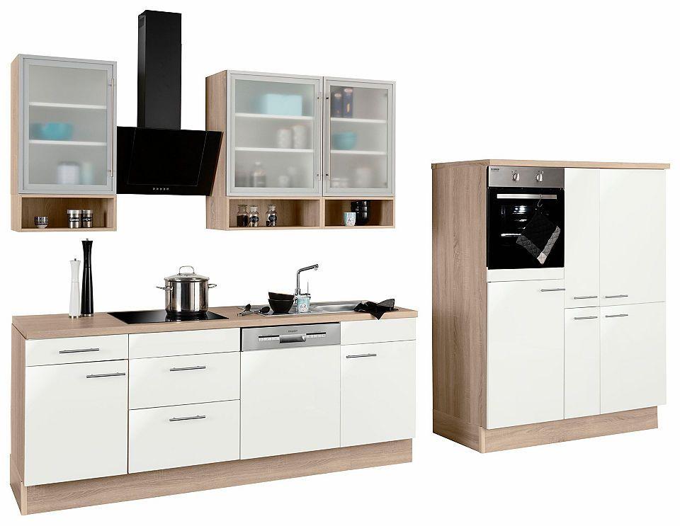 OPTIFIT Küchenzeile mit EGeräten »Aue«, Breite 370 cm
