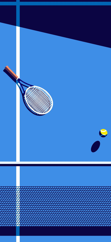 Minimal Tennis Racket Wallpaper 1080x2340 In 2020 Cute Mobile Wallpapers Minimalist Wallpaper Tennis Racket