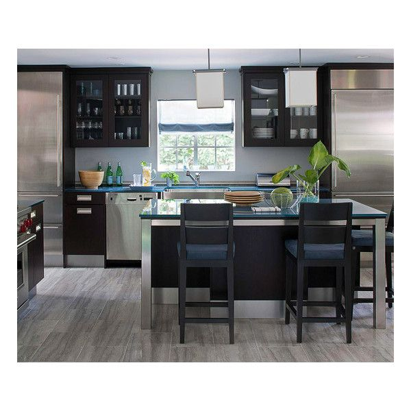 Contemporary Ikea Kitchen Idea Features Cool High Gloss Black Cabinet And  Drawers Plus High Gloss White Kitchen Worktop Plus Navy Blue And Lime Greu2026