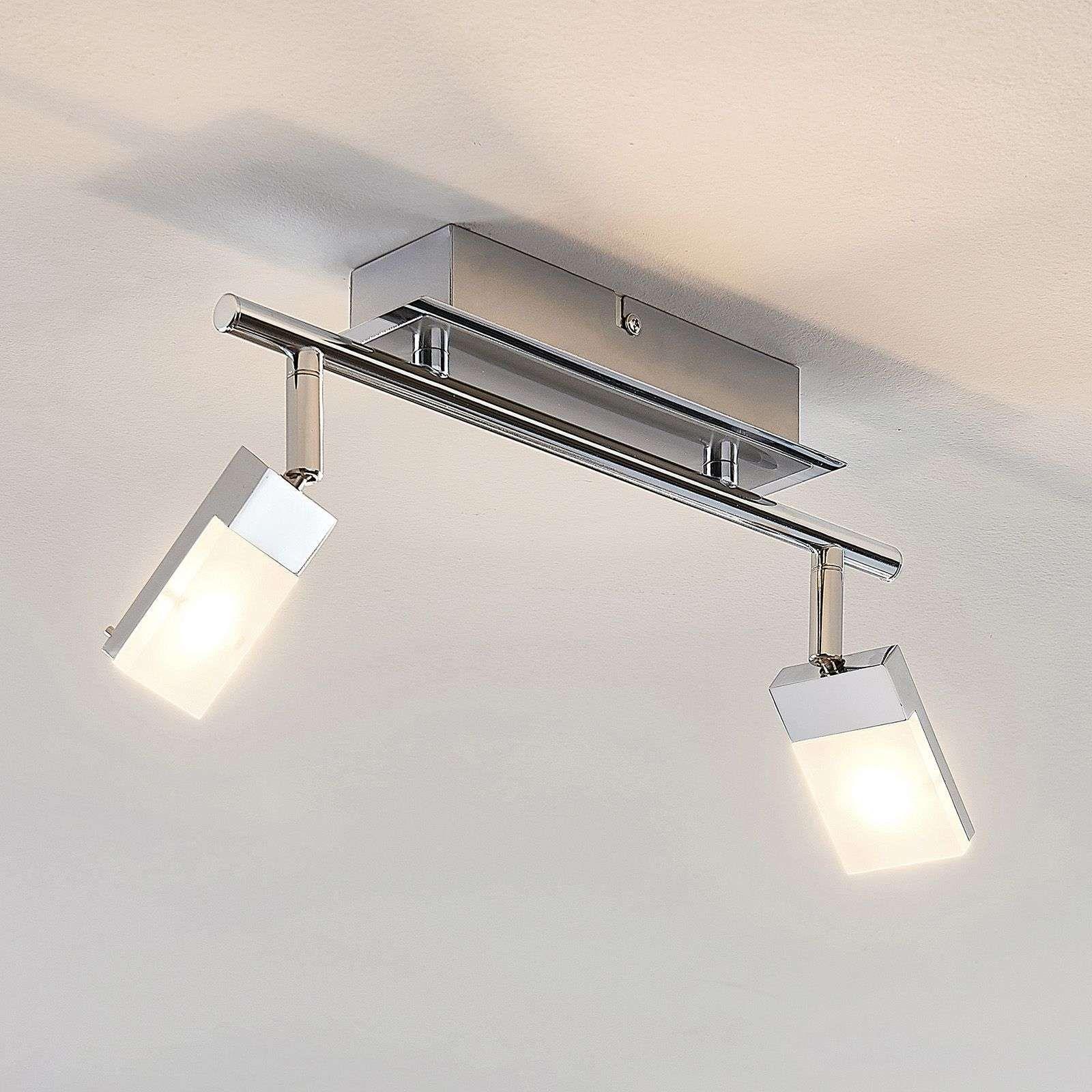 Led Strahler Alija Verchromt 2 Flammig Binnenverlichting Lampen Plafond Lampen