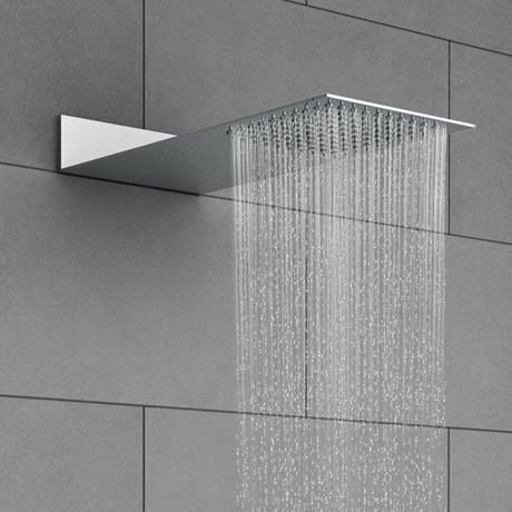 Milan Square Flat Fixed Shower Head 200 X 480mm Milan