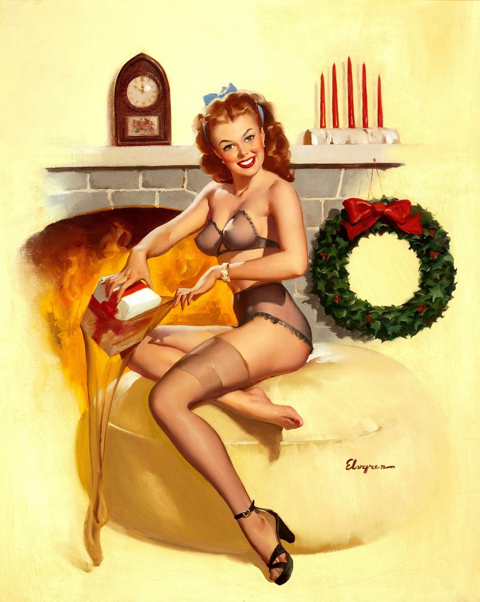 vintage-christmas-pin-up.jpg (1912×2400) | Pin Ups | Pinterest ...