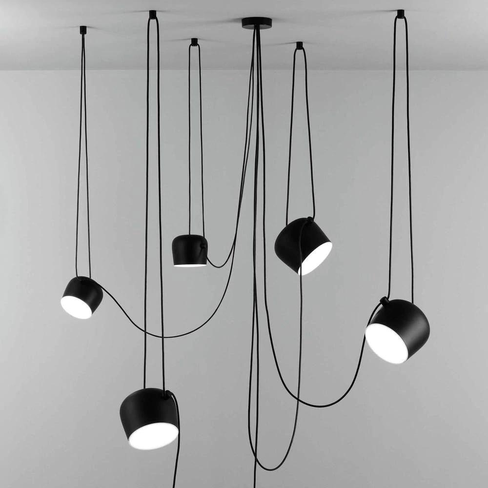 Aim Led Pendant Light In Black Bronze Or White In 2020