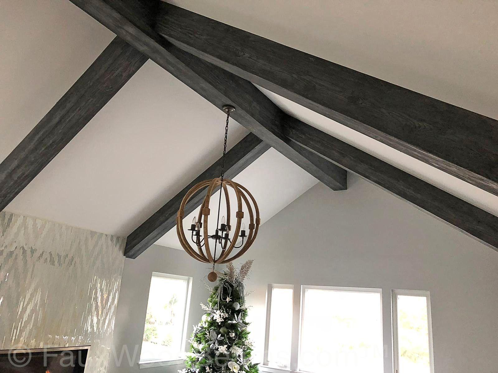 Driftwood Fauxwood Beams   Wooden beams ceiling, Ceiling ...