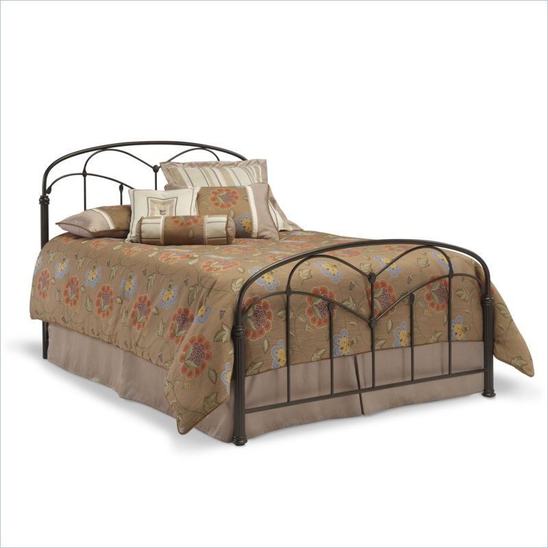 Fashion Bed Pomona Hazlenut Metal Bed 351 95 Bed Styling King Metal Bed Queen Metal Bed