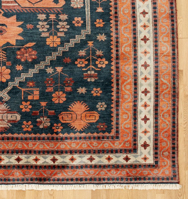 Get The Look An Orange Patterned Rug From The Craftsman House Rugs On Carpet Vintage Inspired Rugs Rugs
