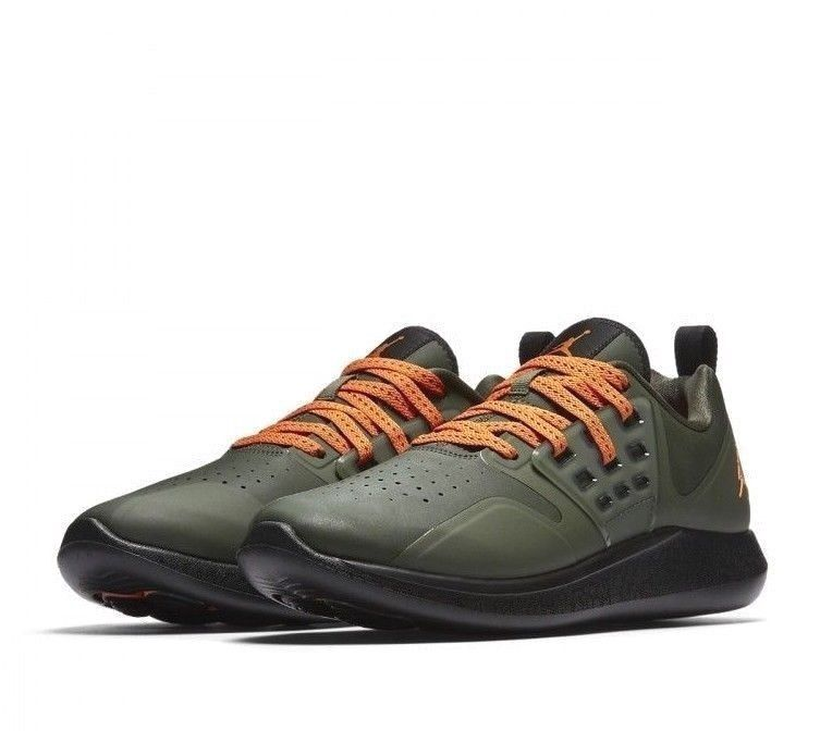Jordan Grind Mens Running Shoes 9.5 Deep Green Clementine Black  Jordan   RunningShoes f5726c00f