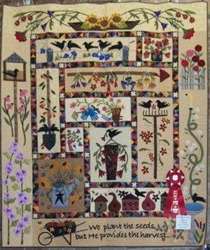 Primitive Garden Primitive Quilts Art Quilts Quilts