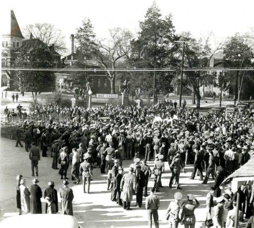 1938 Post Orange Bowl Celebration At Toomer S Corner