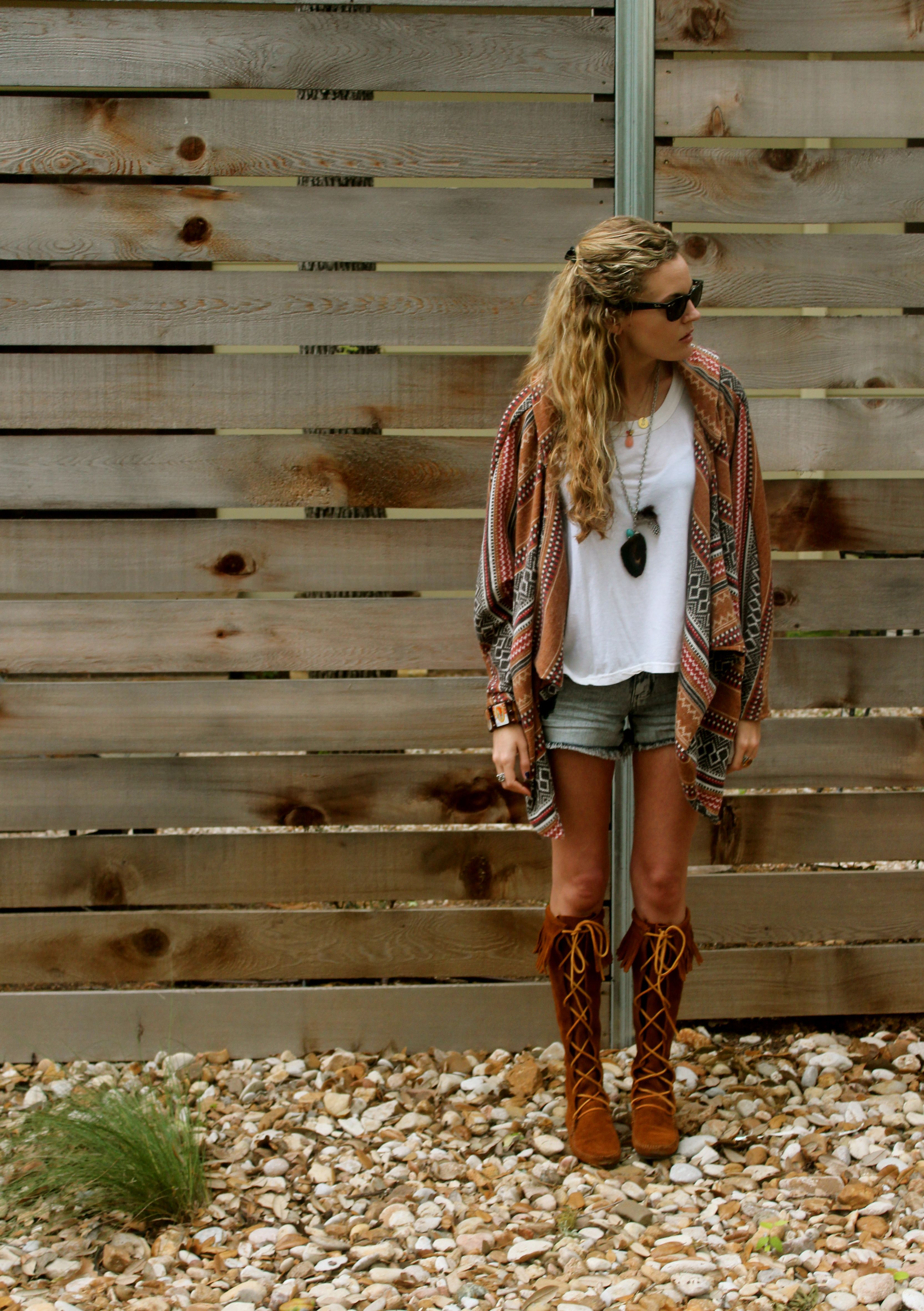 Minnetonka suede leather knee high tall lace up moccasin fringe boots - Minnetonka Knee Hi Fringed Laceup Boot Moccasins