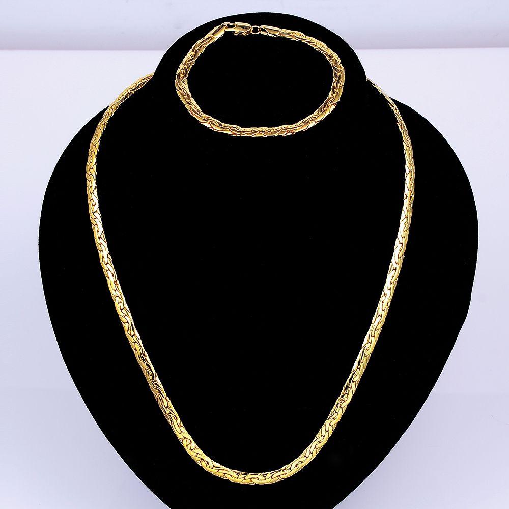 Arlumi k yellow gold plated fashion snake shaped jewelry set sa