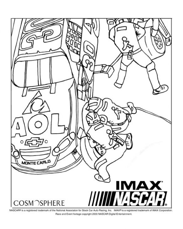 NASCAR Online Coloring Picture Printable | Sports Coloring ...