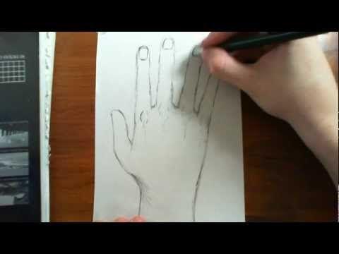 Como dibujar mano realista