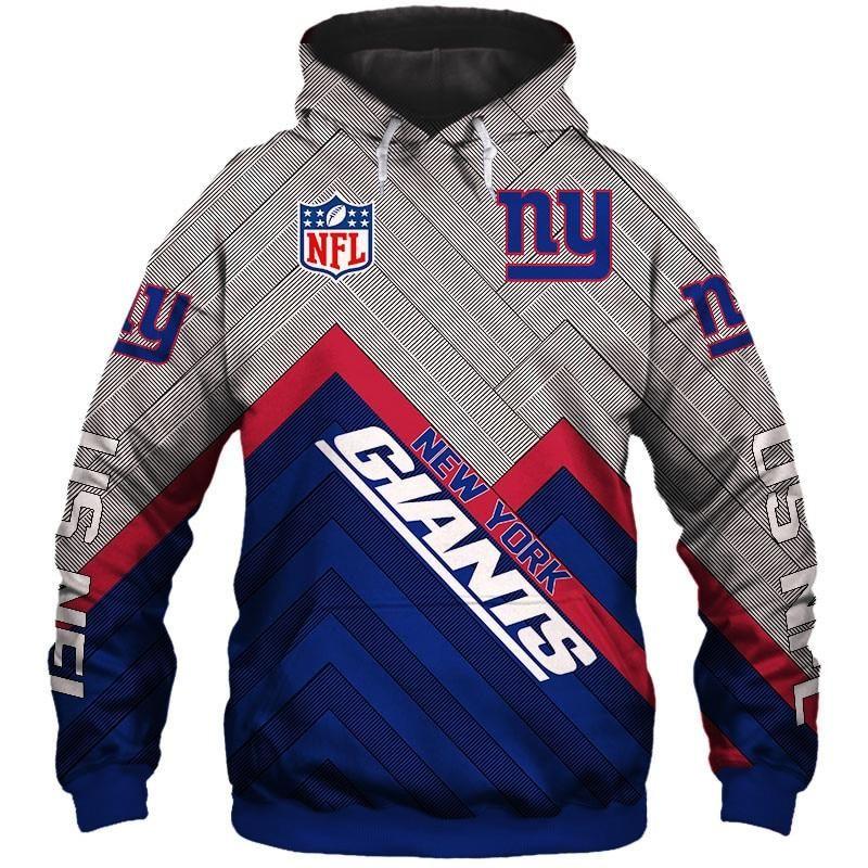 on sale c7993 d705a Men's New York Giants Hoodie Cheap 3D Sweatshirt Pullover ...