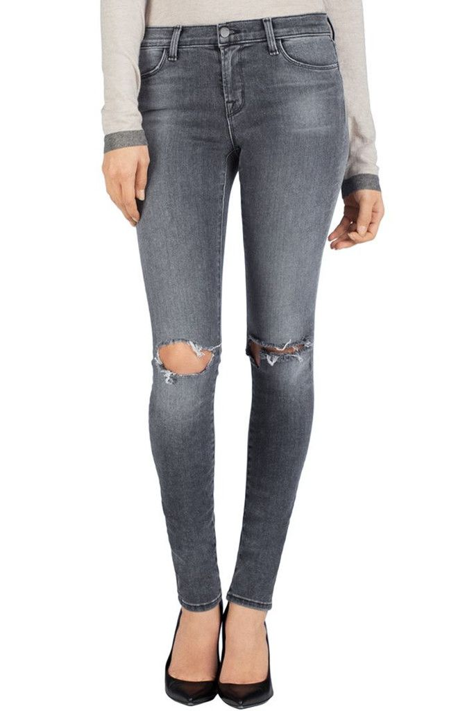 8a578aa9abcc J Brand 620 Close Cut Super Skinny Mid-Rise Destroyed Jeans in Nemesis,  Size 30