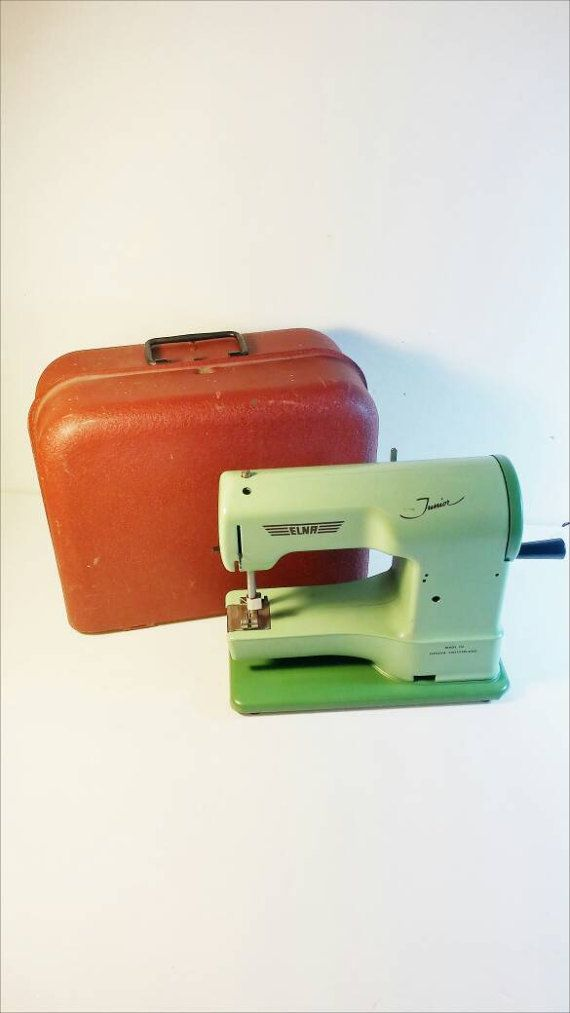 Elna Junior Toy Sewing Machine In Original Box 40s Tin Toys Magnificent Elna Junior Sewing Machine