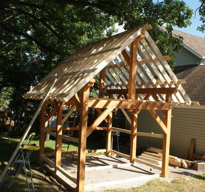 10 X 12 Timber Frame Shed Raising The Frame Timber Framing Timber Frame Building Timber Frame Plans