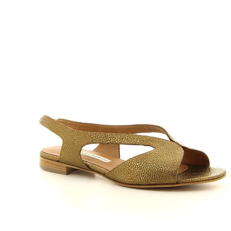 ANTINORI sandaal goud in bedrukt leder | Van Loock Schoenen & Lederwaren