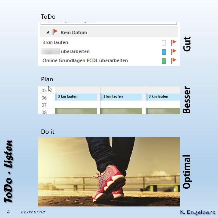 Todo-Listen sind vollkommen sinnlos. Todo's gehören in den Kalender. Oder noch besser ... einfach erledigt!