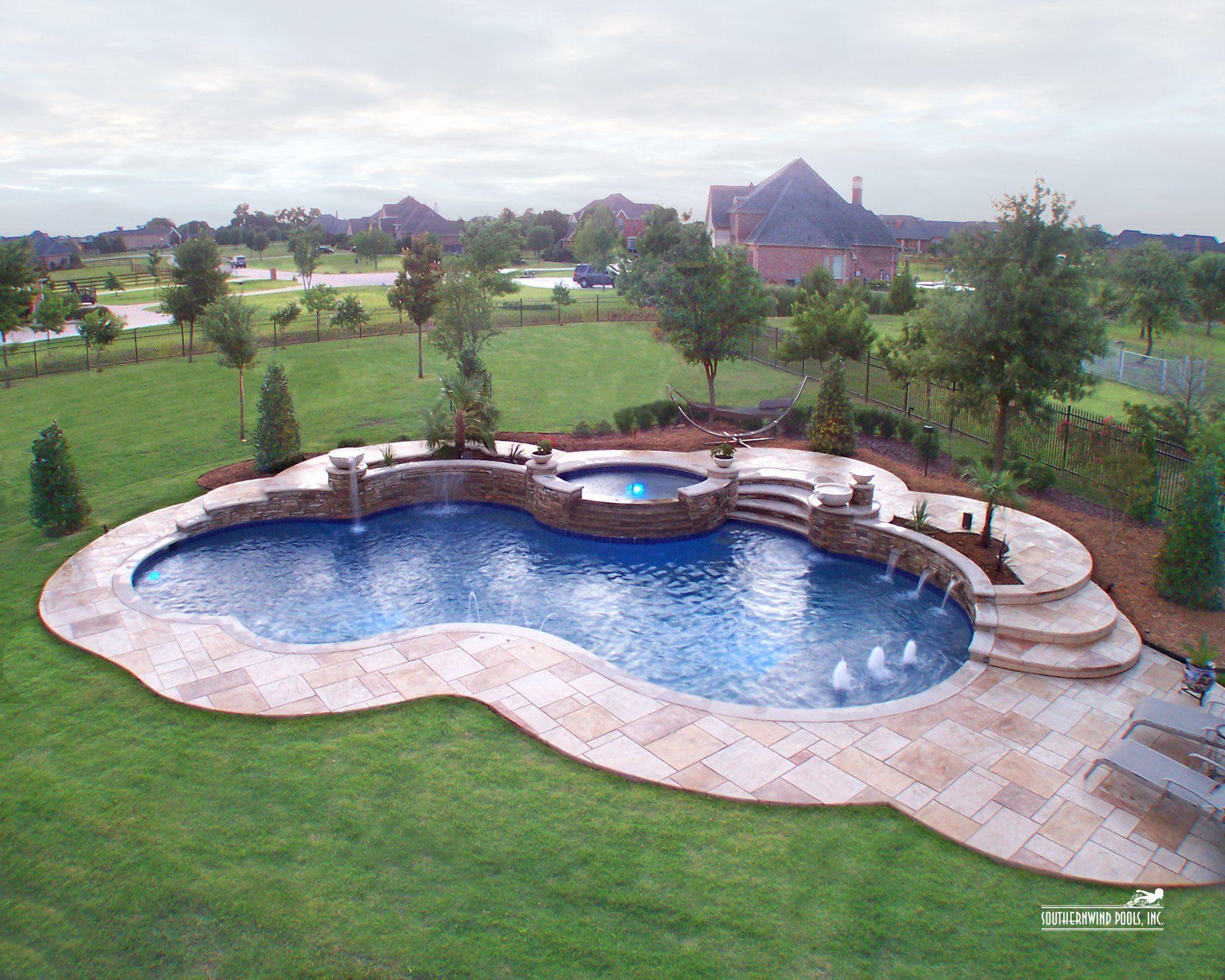 Free Form Swimming Pool Designs Natural  Freeform Pool 069Southernwind Pools  Pool Ideas