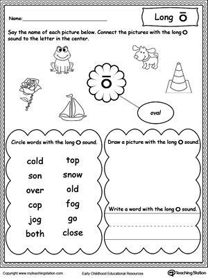 Long O Sound Worksheet | Worksheets, Long Vowels and Printable ...
