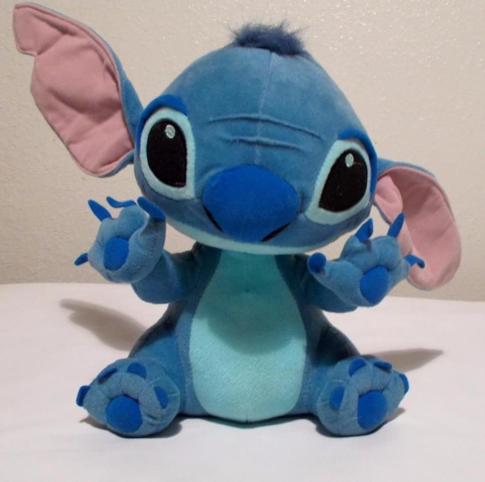 "Disney Lilo and Stitch Plush Blue Alien Stuffed Animal 12"" Tall #Disney #Stitch"