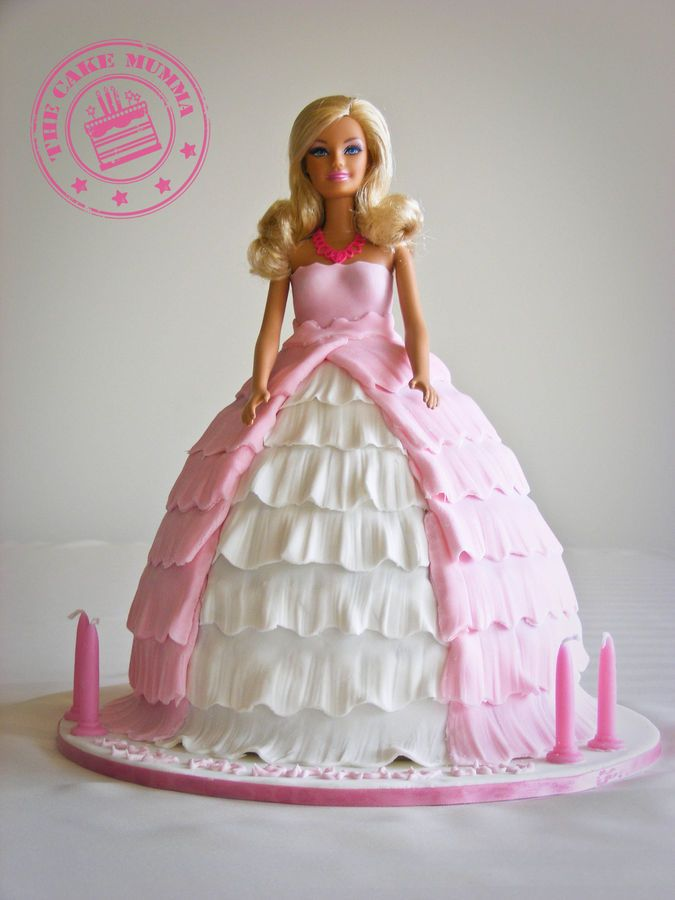 A Gorgeous Birthday Cake For A 4 Year Old Girl Barbie Is