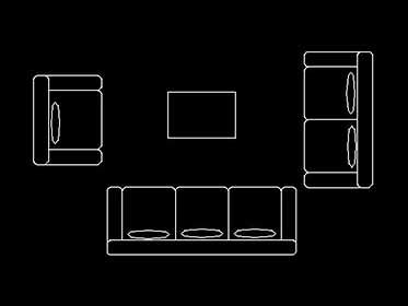 autocad bloque sillon