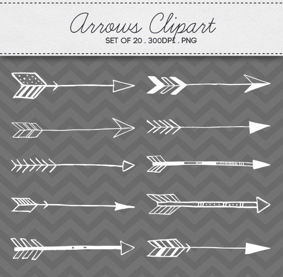 Doodle Tribal Aztec Arrow Clipart Instant Download Digital ...