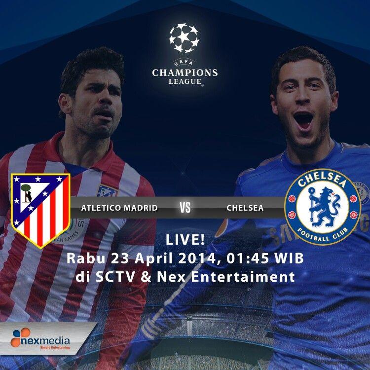 Saksikan Atletico Madrid vs Chelsea LIVE (dini hari) jam