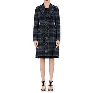Alberta Ferretti Women's Embellished Flannel Double-Breasted Coat