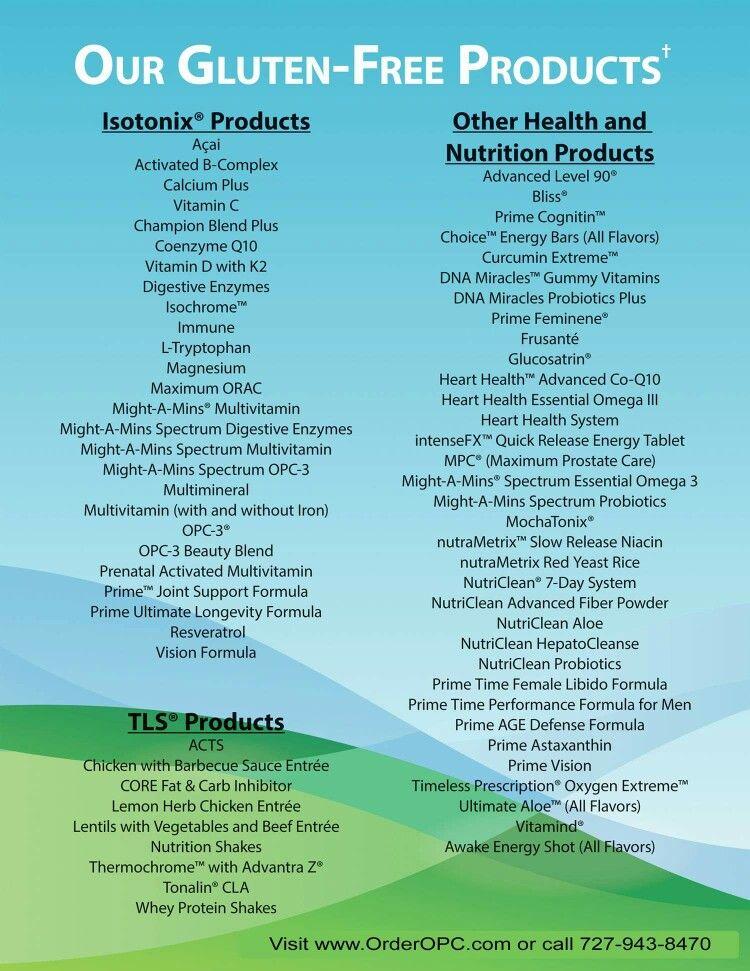 Isotonix and TLS gf | Gluten free health, Acai nutrition
