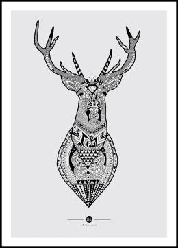 Radyr Sort Hvid Billede Google Sogning Art Deer Art Print Patterns