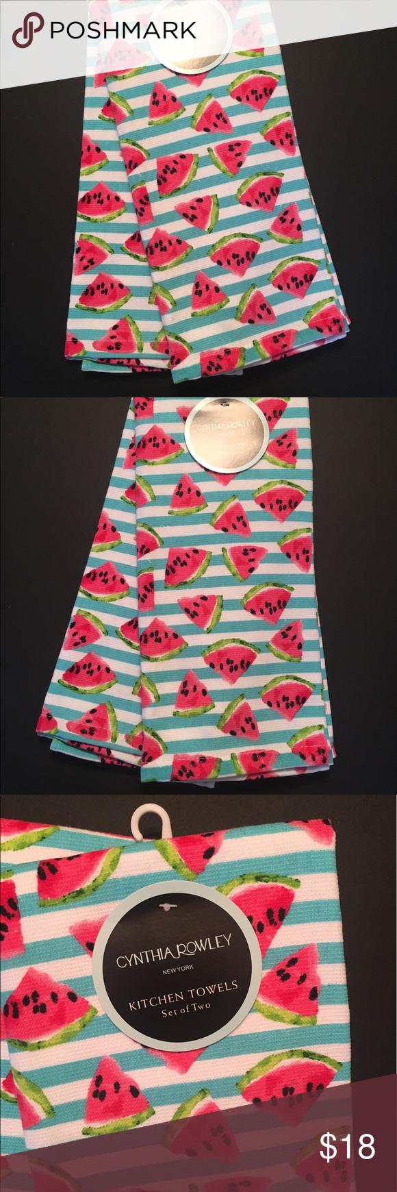 Cynthia Rowley Kitchen Towels Watermelon Stripe Cynthia Rowley Kitchen  Towels Set
