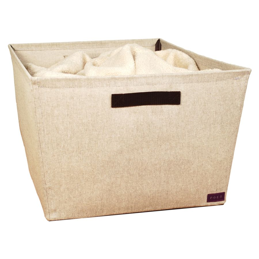 Lowes Laundry Baskets Shop Poet Mixed Materials Basket At Lowes  For The Home